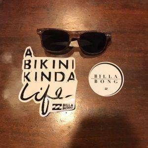 Roxy Sunglass and billabong stickers